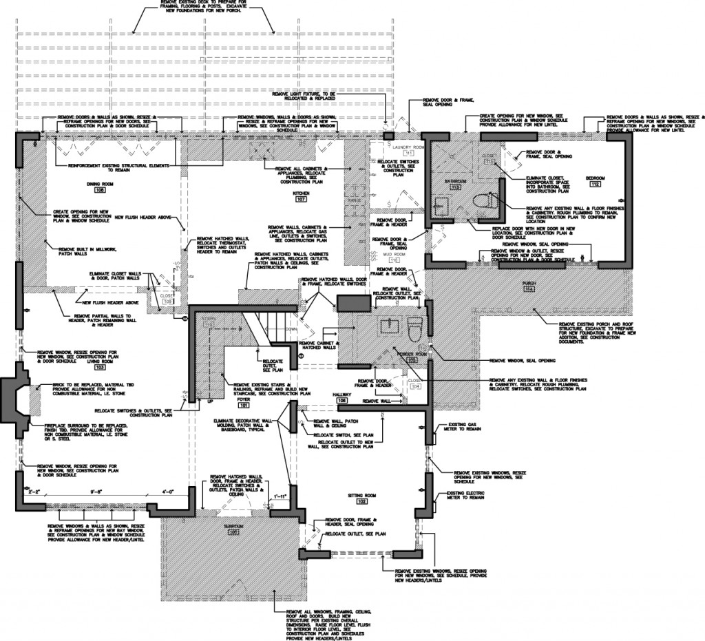 First Floor Demo plan