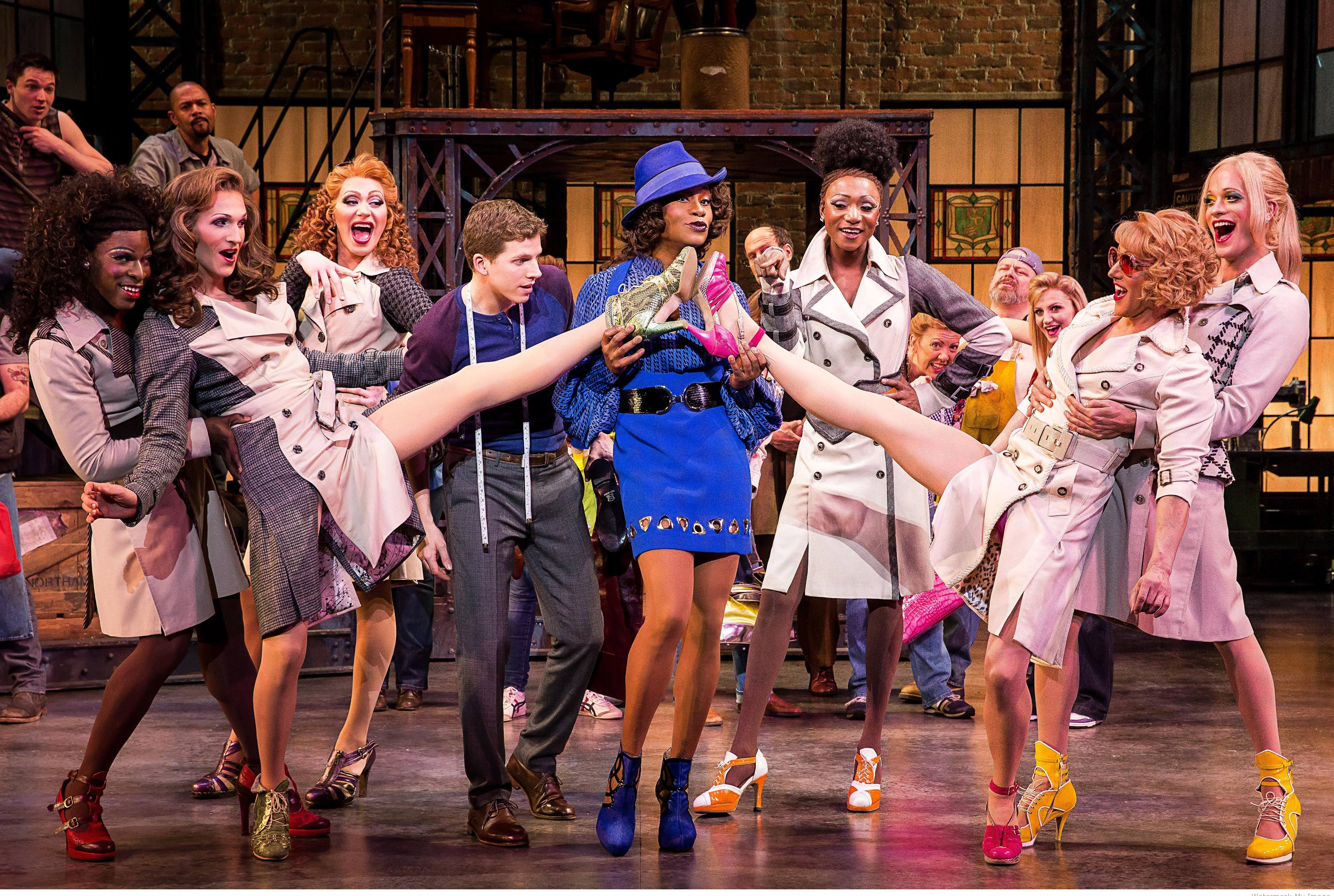 Broadway kinky boots vicente wolf for The brodway